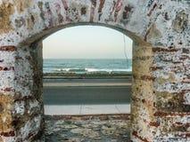 Caribbean Sea from Spanish Fort in Cartagena Stock Photos