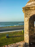 Caribbean Sea from Spanish Fort in Cartagena Stock Photography