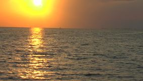 Caribbean Sea Sunset near Cayo Largo. Cuba stock video