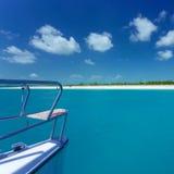 Caribbean sea travel on catamaran Royalty Free Stock Photos