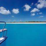 Caribbean sea travel on catamaran Royalty Free Stock Photography