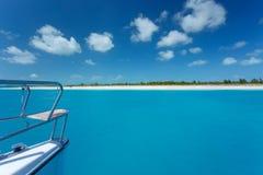 Caribbean sea travel on catamaran Royalty Free Stock Image