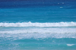 Caribbean sea. The turquoise water of Caribbean sea, Cancun, Mexico Royalty Free Stock Photos
