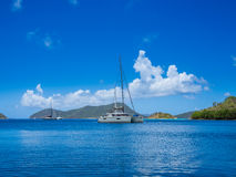 Caribbean sea at US Virgin Islands Stock Images