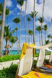 Caribbean sea view in bavaro beach Stock Images