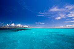 Caribbean sea view in paradise Royalty Free Stock Photo