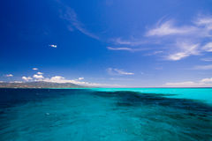 Caribbean sea view in paradise Stock Photo