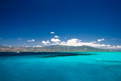 Caribbean sea view in paradise Royalty Free Stock Images