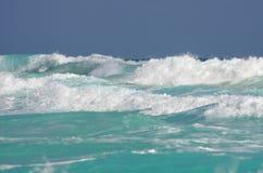 Caribbean sea. The waves of Caribbean sea, Cancun, Mexico Royalty Free Stock Photos