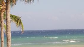 Caribbean Sea waves tropical vacation stock video footage