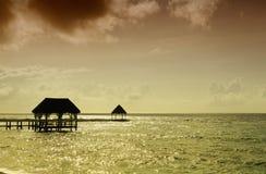 Caribbean sea stock image
