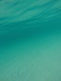 Caribbean Seascape of Aqua Water Stock Image