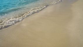 Caribbean shallow water waves shore turquoise. Aqua color ripple reflection stock video