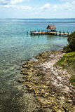 Caribbean shore and pier Royalty Free Stock Photography
