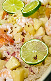 Caribbean Shrimp and Rice Dish Stock Photography