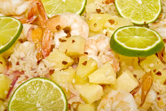 Caribbean Shrimp and Rice Dish Stock Photography