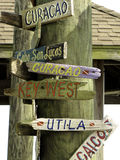 Caribbean Signs. Wooden signs of some caribbean places Royalty Free Stock Photos