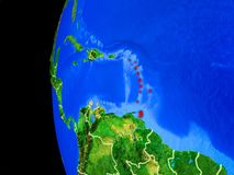 Caribbean from space stock illustration