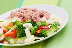 Caribbean Style Rice Royalty Free Stock Image