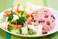 Caribbean Style Rice with Vege Royalty Free Stock Photos