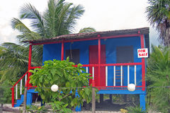 Caribbean style shack for sale royalty free stock image