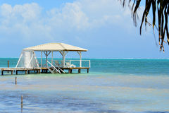 Caribbean Sun Dock Royalty Free Stock Image