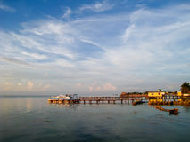 Caribbean Sunrise. Early morning in Ambergris Caye, Belize Royalty Free Stock Photography