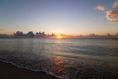 Caribbean sunrise on beach Royalty Free Stock Image