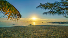 A Caribbean sunrise from a beach Stock Photography