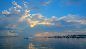 A Caribbean sunrise from the shore. A Caribbean sunrise view from shore Stock Photography