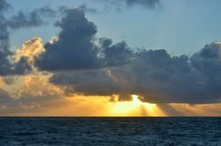 Caribbean sunrise Stock Photos