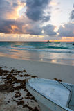 Caribbean Sunrise View. Caribbean sunrise as seen from Tulum, Mexico in the Riviera Maya Royalty Free Stock Image