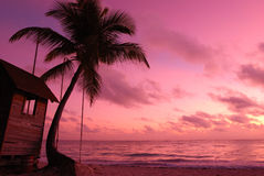 Caribbean sunset Royalty Free Stock Photos