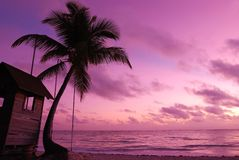 Caribbean sunset Royalty Free Stock Photo