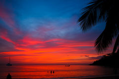 Caribbean sunset Stock Photography