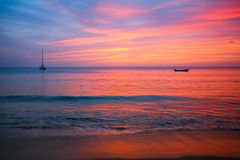 Caribbean sunset Stock Image