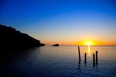 Caribbean Sunset II. Beautiful sunset in Roatan, Islas de la Bahia, Honduras Stock Photography