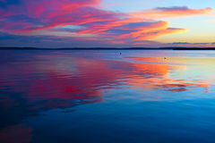 Caribbean sunset Stock Photography