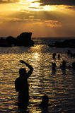 Caribbean sunset Royalty Free Stock Photos