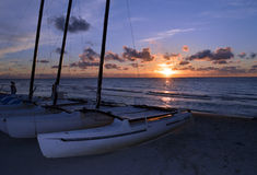 Caribbean sunset, Varadero beach, Cuba Stock Photography