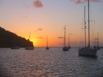 Caribbean Sunset Royalty Free Stock Image