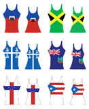 Caribbean Tank Tops. Vector llustration of Caribbean Tank Tops for men and women Stock Images