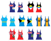 Caribbean Tank Tops. Vector llustration of Caribbean Tank Tops for men and women Royalty Free Stock Photo