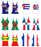 Caribbean Tank Tops Royalty Free Stock Image