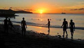 Caribbean tourists stock photography