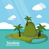 Caribbean tropical vacations paradisiac island. Vector illustration eps 10 Stock Images