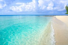 Caribbean turquoise beach clean waters. And white sand Stock Photos