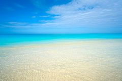 Caribbean turquoise perfect beach Riviera Maya. Caribbean turquoise perfect beach in Riviera Maya of Mexico stock photography