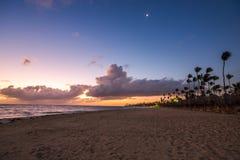 Caribbean vacation, beautiful sunrise over tropical beach. Punta Cana, Dominican Republic Stock Image