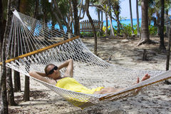 Caribbean Vacation Hammock Stock Photos